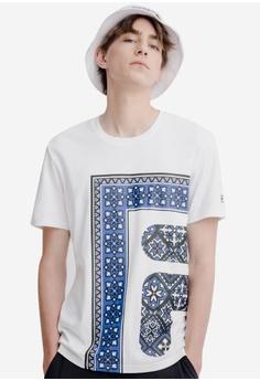 3ab97d236e FILA white Ethnic Style Print T-shirt 67B79AAD5FE76BGS_1