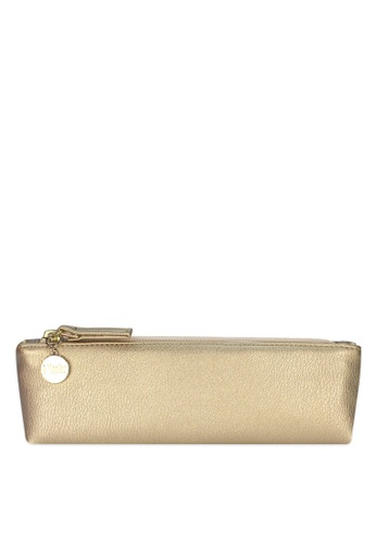 Ripples gold Ripples Kaylyn Ladies PU Slim Leather Cosmetic Pouch 4721EBE4454E81GS_1