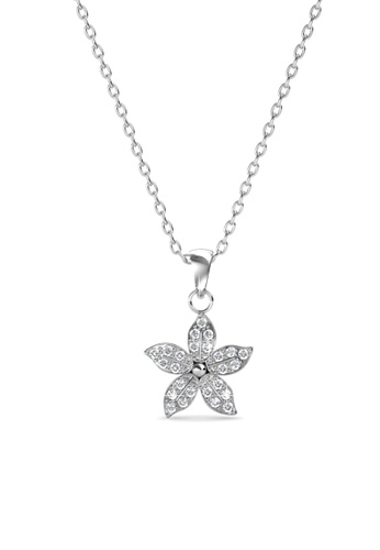 Her Jewellery silver Bloom Pendant - Crystals from Swarovski® F50BEAC0F887F8GS_1