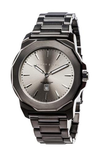 PERRY ELLIS black Perry Ellis Decagon Unisex 42mm Quartz Stainless Steel Watch 08005-02 972C8AC72FA5ABGS_1