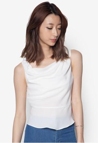 垂領無袖上衣zalora是哪裡的牌子, 服飾, 服飾