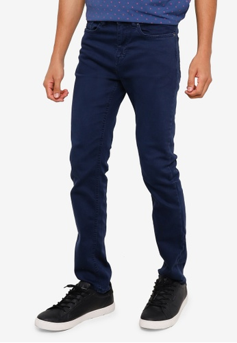 Springfield blue Wash Skinny Jeans 497D3AA587BBD4GS_1