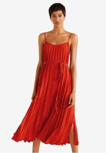 a8450b9ba Buy Mango Pleated Midi Dress Online on ZALORA Singapore