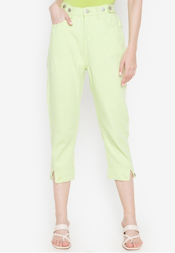 Spring Fling green Pants with Bottom Cuffs CFFC8AA98155C4GS_1