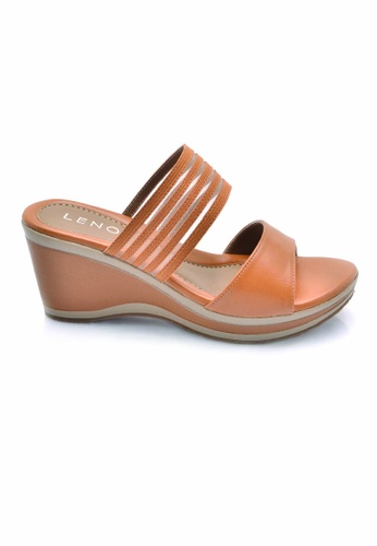 LENO brown Erlemir Wedge Sandals (LS36613) LE122SH0RQK2MY_1