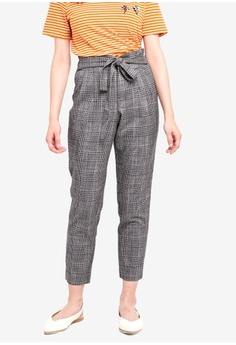 ONLY. Florence Check Ankle Pants 358559ae7b