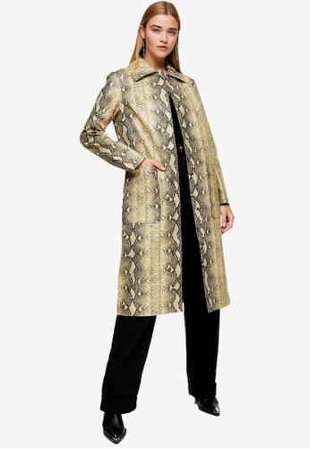 TOPSHOP multi Snake Print Coat 16263AA675D059GS_1