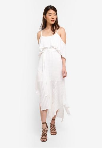 Bardot white Elle Frill Dress BA332AA0ST98MY_1