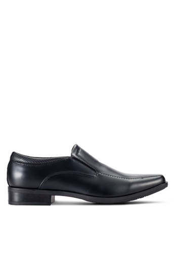 Louis Cuppers black Formal Slip-On Shoes LO977SH42RCRMY_1