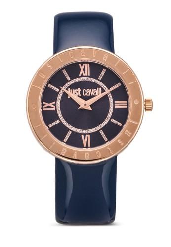 R7251532501 Just Shiny 皮esprit香港門市革圓錶, 錶類, 飾品配件