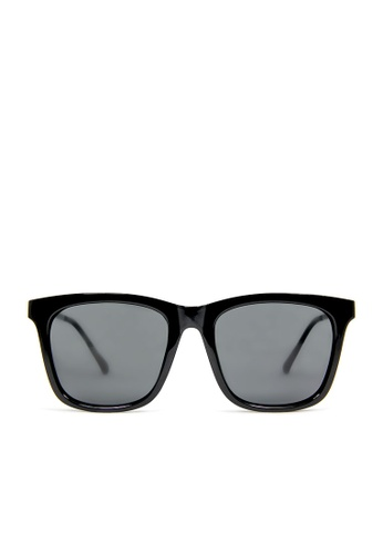 ASLLY black and grey and multi Signal│Black rectangle sunglasses 38A88GL53F0C7AGS_1