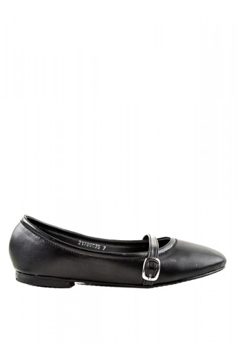 Otto black Buckled Slip On Shoes F0C02SHB38FE98GS_1