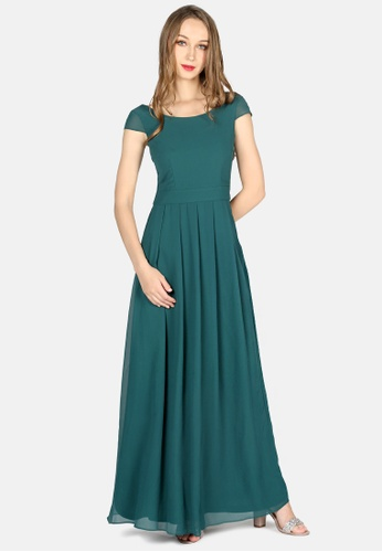 London Rag green Jasper Chiffon Maxi Dress 2C02DAABA017E2GS_1