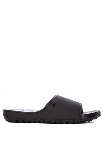 Fitflop black Lido Slide Sandals 327B6SH5844E26GS_1