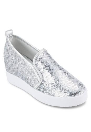 亮片內增esprit台灣門市高楔型懶人鞋, 女鞋, 懶人鞋