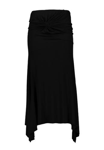 Kashieca black Front Tie Maxi Skirt C364CAA6F49400GS_1