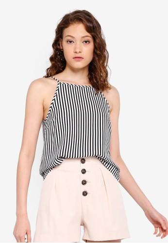 10352c41db6c6b Buy ZALORA BASICS Basic High Square Neck Cami Top Online on ZALORA Singapore