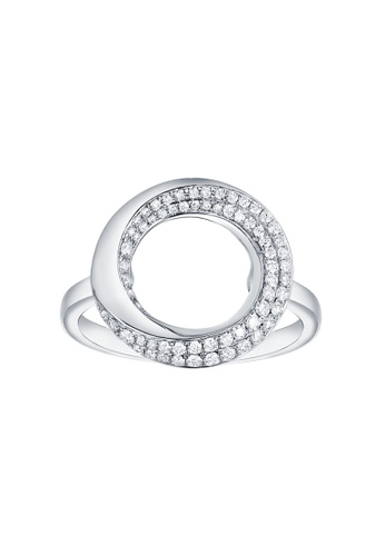 Vedantti white Vedantti 18K The Circle Slim Ring in White Gold 04D2FAC9B5B295GS_1