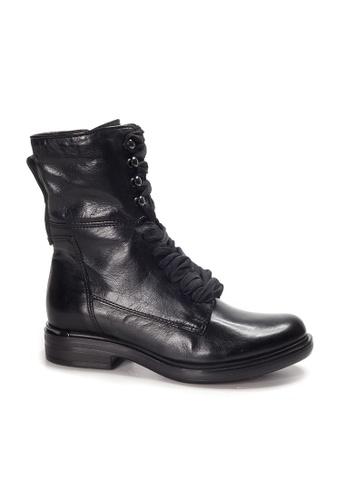 Shu Talk black Lecca Lecca Causal Mid-calf leather Boots 6AADASH592FE8EGS_1