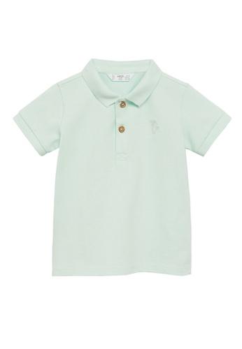 MANGO BABY green Organic Cotton Polo Shirt 72046KA7BEE750GS_1