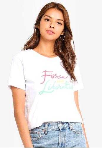 Cotton On white Tbar Fox Graphic T-Shirt E9774AACF15ED2GS_1