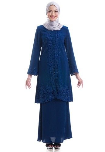Ashura navy Adama Kebaya With Border Lace F45E7AA952955CGS_1
