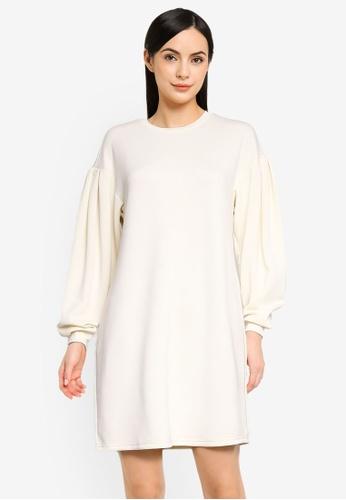 Vero Moda beige Ena Mini Dress D7F2EAA384F200GS_1