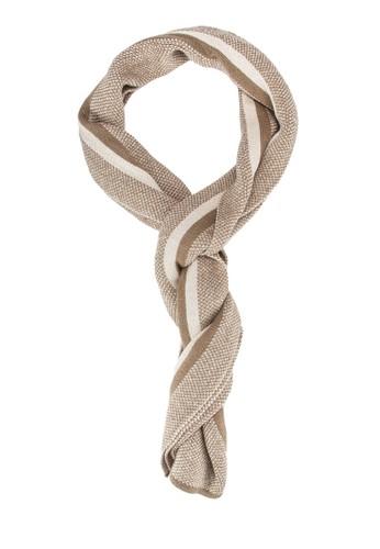 男性混合紗條紋拼esprit專櫃接圍巾, 飾品配件, 飾品配件