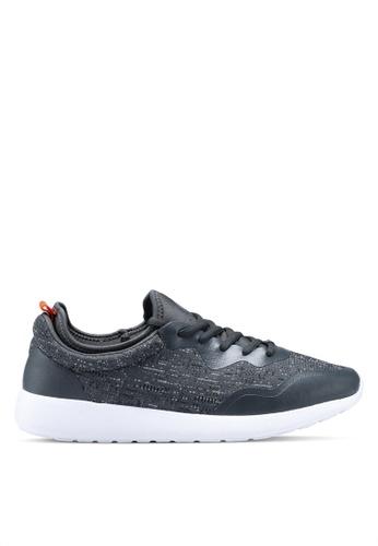 Burton Menswear London grey Grey Knit Runner Trainers 028A0SH6FAD274GS_1
