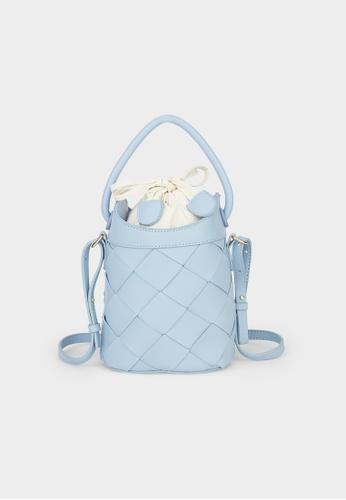 Pomelo blue Drawstring Bucket Bag - Baby Blue ABF02ACAD58B57GS_1