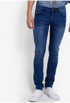 【ZALORA】 窄管牛仔褲