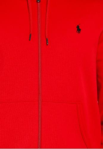 Polo Ralph Lauren Performance Burgundy Hoodie Sweatshirt Full Zip NWT