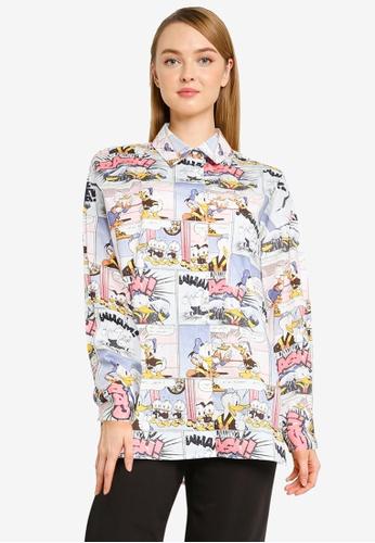 Urban Revivo blue Donald Duck Shirt 66A87AAE8BE630GS_1
