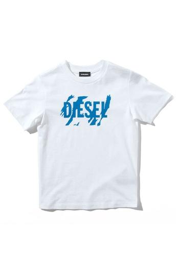 Diesel white Short Sleeve T-shirt F58C5KAA2FB1C1GS_1