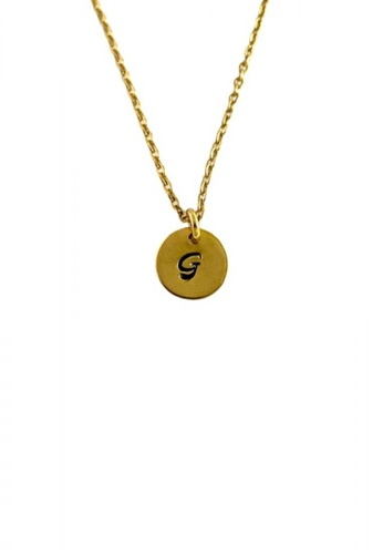 Trinkets for Keeps gold Initial G Stainless Steel Necklace F910EAC14FE02FGS_1