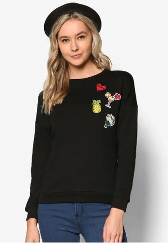 水果刺繡圖案長袖衫、 服飾、 外套SomethingBorrowed水果刺繡圖案長袖衫最新折價