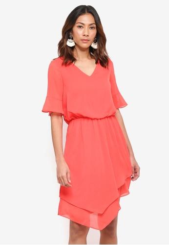 6cde4e2ce5e Vero Moda red Sarah SS Short Dress 7F083AA890406DGS 1