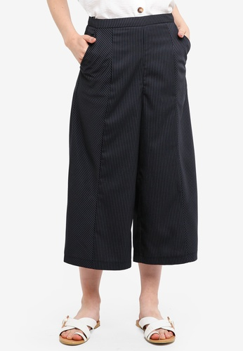Something Borrowed navy Striped Culottes D903FAAAE86640GS_1