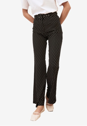 Trendyol black Belted Polka Dot Trousers 9BE99AACBCE517GS_1
