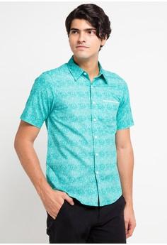 b57f14849da BRITANIA blue Short Sleeve Art Print Shirt BR202AA0V8Z0ID 1