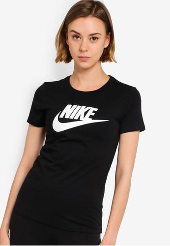Nike black Women's Sportswear Essential Short Sleeve T-Shirt BC28BAA6AD60E4GS_1