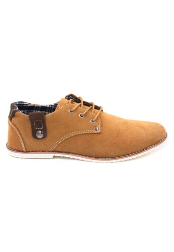 midzone brown Suede Leather Sneaker MI949SH64ZKHMY_1