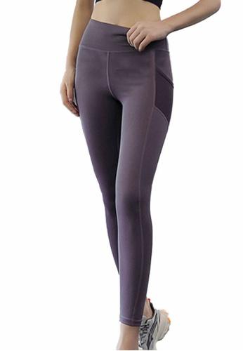 Sunnydaysweety purple High-Waist Stretch Tights A081022PU EB3E4AAC112B8EGS_1