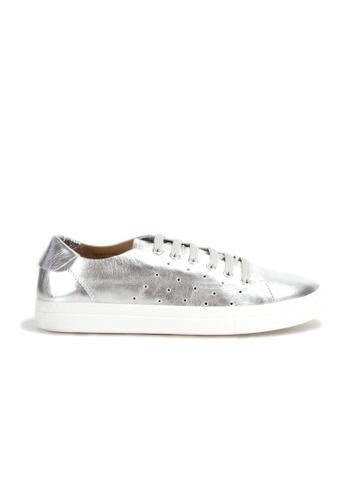 Shu Talk silver DARKWOOD Metallic Chic Comfortable Cusioning Sneakers 4BF92SH6EE8F8FGS_1