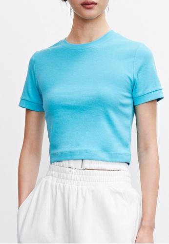 Urban Revivo blue Fashion T-Shirt 3F5D9AA2065F79GS_1