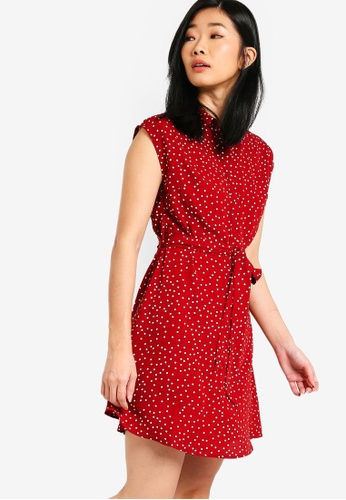 Something Borrowed red Shirt Dress FA01EAADAF1F81GS_1