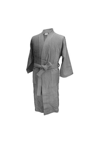 Charles Millen Charles Millen Bathrobe Kimono Style ( light weight, Stylish Robe ). 8A2A0HLE7C8504GS_1