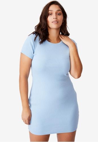 Supre blue Lucia Rib Tee Mini Dress F810EAA01A9129GS_1