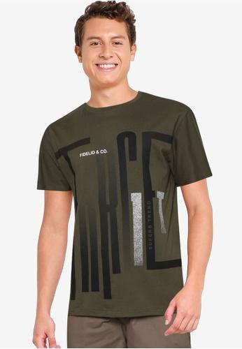 Fidelio 綠色 Superb Trend 印花T恤 6E907AA9EE4162GS_1