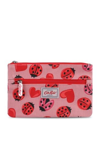 Cath Kidston pink Lovebugs Kids Double Zip Pencil Case A1347KC5ADB226GS_1